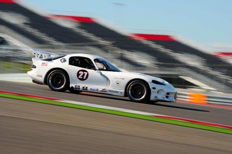 White Dodge Viper Race Car
