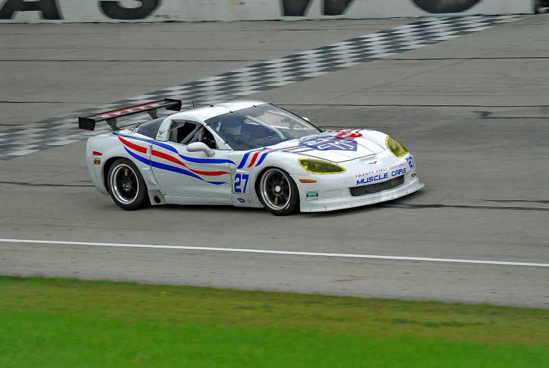 White C6 Race Car